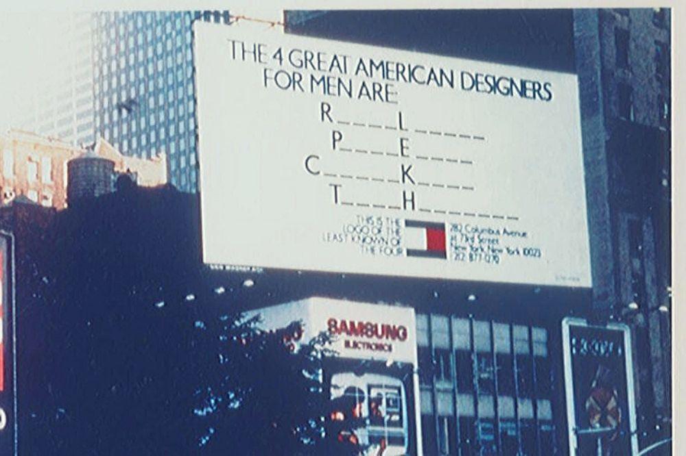 pubblicità tommy hilfiger 1985
