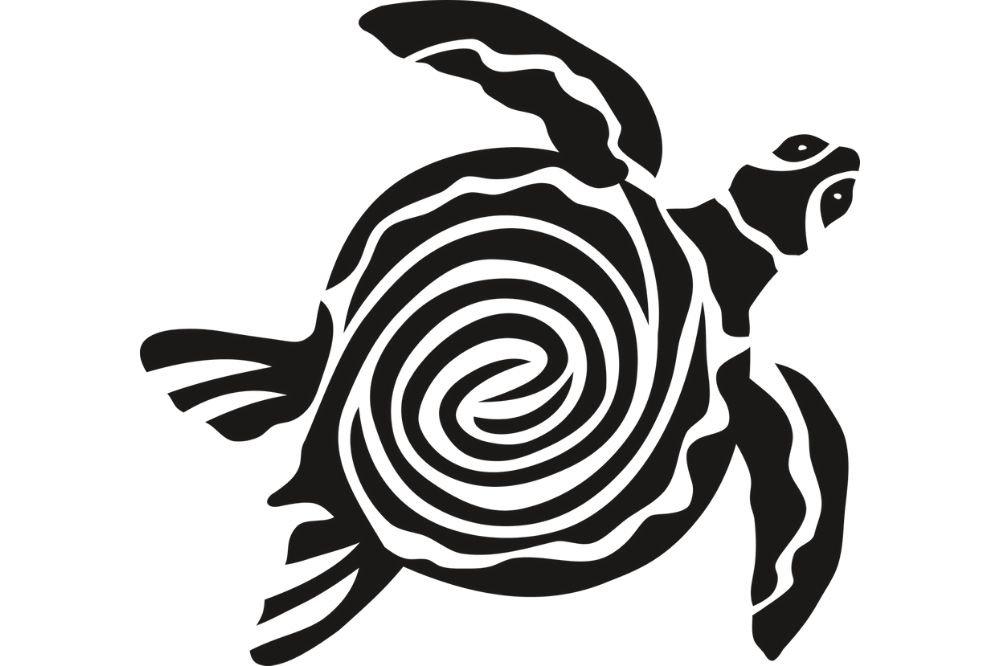 tatuaggio tribale tartaruga