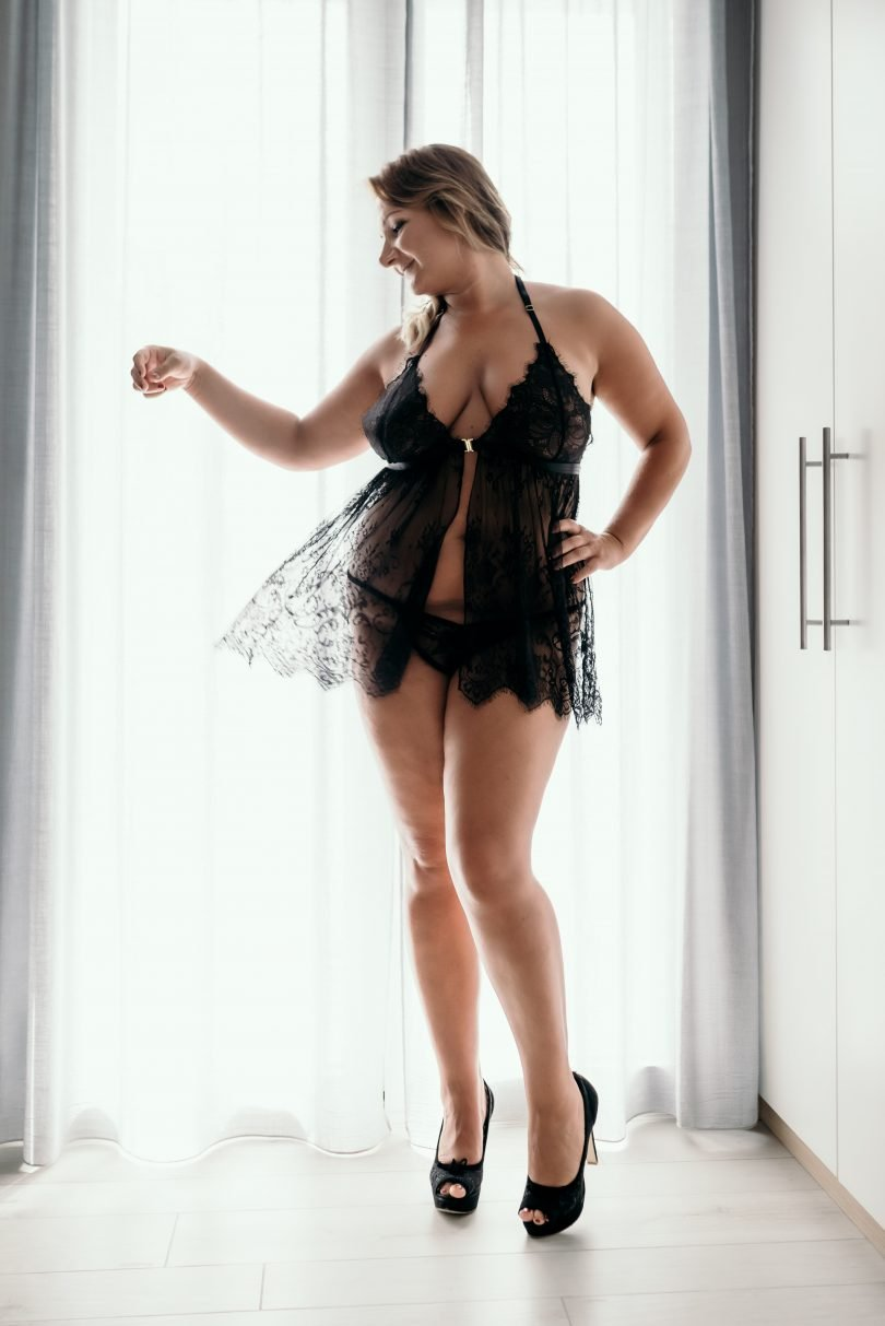 BABYDOLL TAGLIE FORTI IN PIZZO